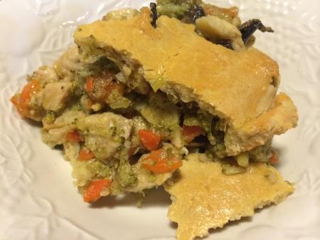 Plated Chicken Pot Pie