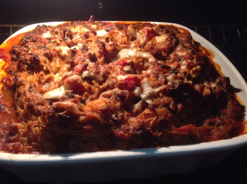 Finished baked spaghetti
